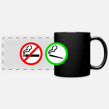 Smoking no smoking yes smoking - Full Color Panoramic Mug