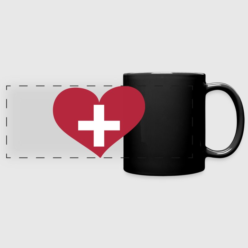 Switzerland Heart; Love Switzerland - Full Color Panoramic Mug