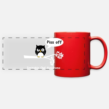 Off Irritable owl syndrome - Full Color Panoramic Mug