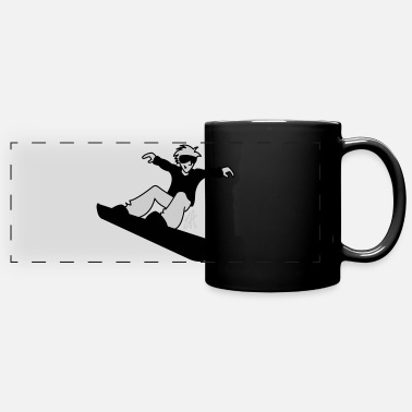 Lumilautailu Snowboard - Full Color Panoramic Mug