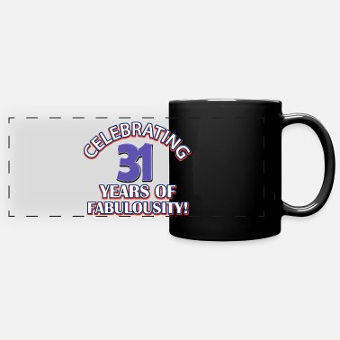 Card 31 years birthday cards - Full Color Panoramic Mug