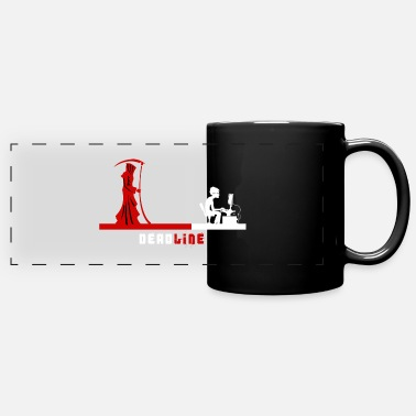 Grim Reaper and Programmer Deadline - Full Color Panoramic Mug