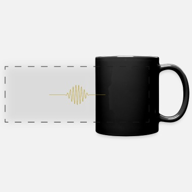 High Frequency Music frequency line in gold - Full Color Panoramic Mug