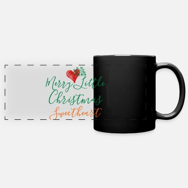 Merry Little Christmas Sweetheart Hearts - Full Color Panoramic Mug