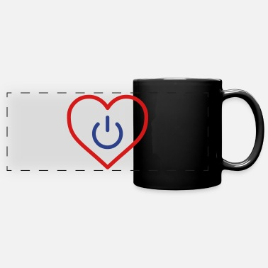 Couples power of love v3 - Full Color Panoramic Mug