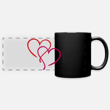 Heart Hearts Love - Full Color Panoramic Mug