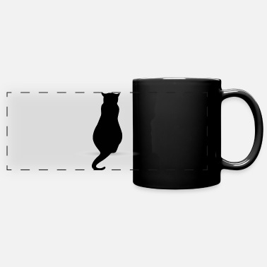 Silhouette Cat silhouette silhouettes - Full Color Panoramic Mug
