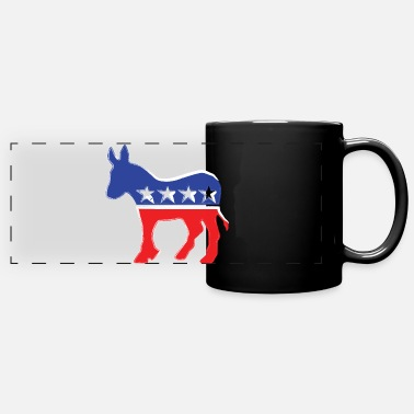 Democrat Democrat Donkey - Liberal - Politics - Full Color Panoramic Mug