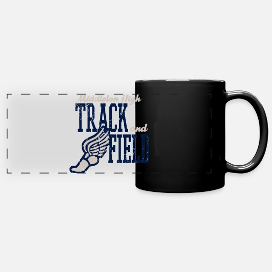 Track And Field Mugs & Drinkware - Middleton High Track And Field - Full Color Panoramic Mug black