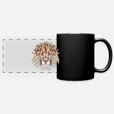 Ethnic Tribal Lion - Full Color Panoramic Mug