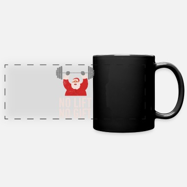 Crossfit Funny Gym No Lift no gift Santa Christmas Gift - Full Color Panoramic Mug