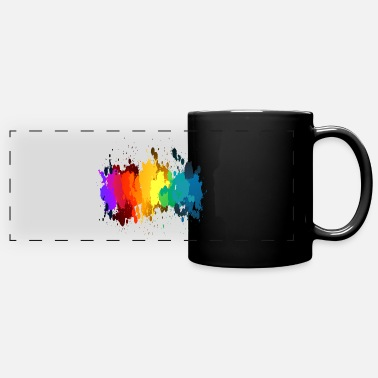 Rainbow Paint Rainbow Paint Splatter - Full Color Panoramic Mug
