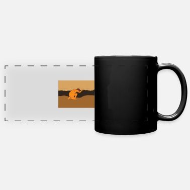 Hands Holding The Earth Samoan Atlas Holding Sky from Earth Drawing - Full Color Panoramic Mug