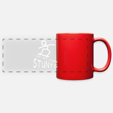 Stunt Skateboard, stunt, stunts, I do my own stunts - Full Color Panoramic Mug