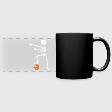 Basketball the floss dance flossing skeleton - Full Color Panoramic Mug