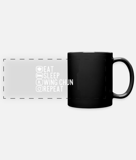 Funny Graduation Sayings Mugs & Cups - Wing Chun spell gift - Full Color Panoramic Mug black