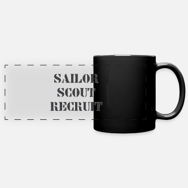 90s Sailor Scout Recruit Old School 90s Anime Design - Full Color Panoramic Mug
