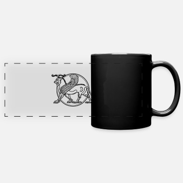 Ancient Ancient Lion - Full Color Panoramic Mug