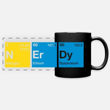Nerdy Nerdy Periodic Table Word - Full Color Panoramic Mug