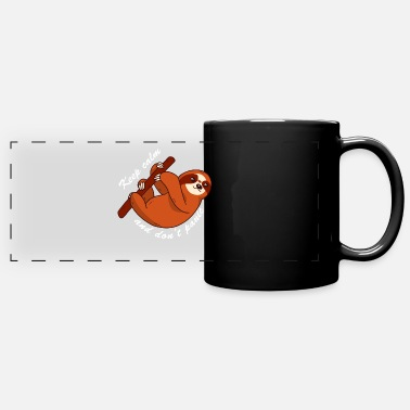 keep calm dont panic | funny sloth - Full Color Panoramic Mug