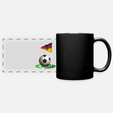 Corner Kick Corner kick Soccer Football german flag - Full Color Panoramic Mug