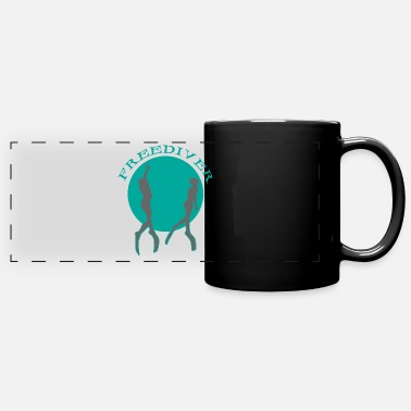 Free Free diver meditating - Full Color Panoramic Mug