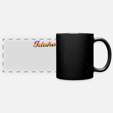 Idaho Funny Idaho Trees Sunset - Full Color Panoramic Mug