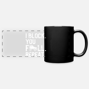 Skate Roller Derby Player Block Fall Skating Team - Full Color Panoramic Mug