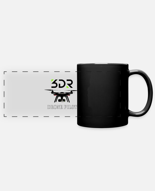 Pilot Mugs & Cups - 3DR DRONE PILOT - Full Color Panoramic Mug black
