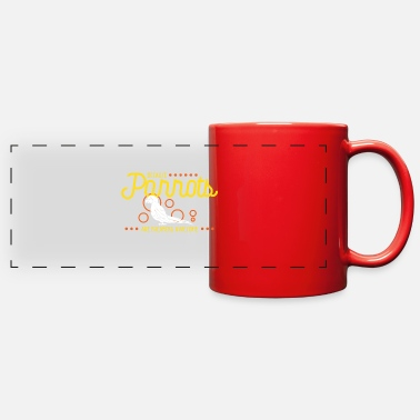 Because parrots are freaking awesome - Full Color Panoramic Mug