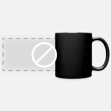 Not Allowed Image: Not allowed (white) - Full Color Panoramic Mug