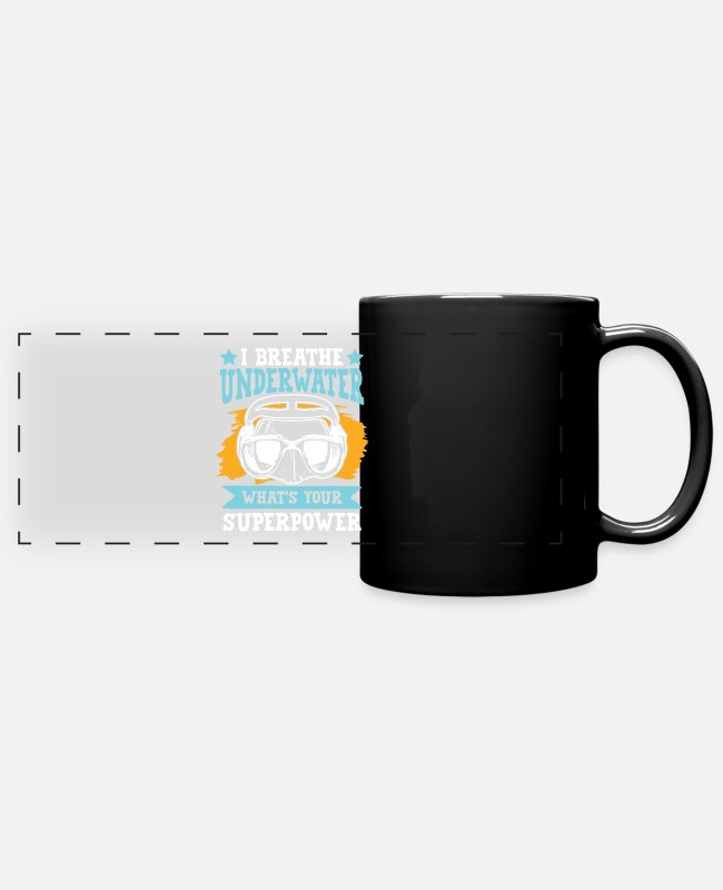 Quote Mugs & Cups - Diving Goggles Diving - Full Color Panoramic Mug black