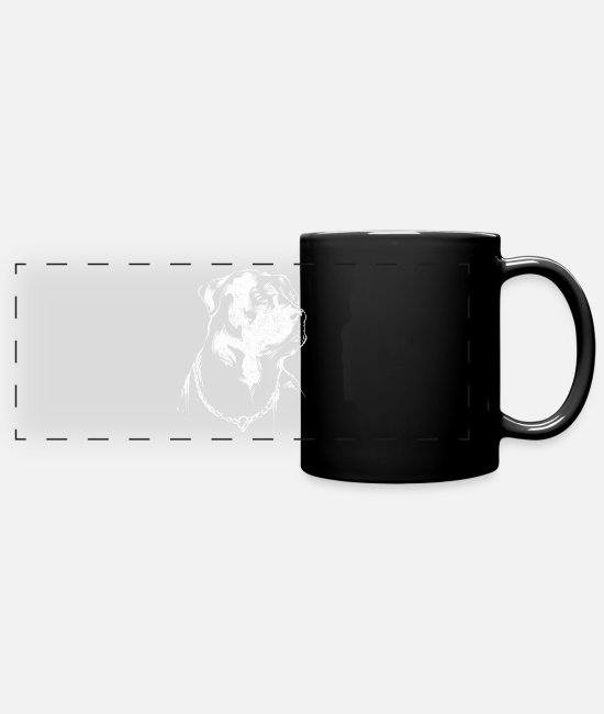 Dachshund Mugs & Cups - Rottweiler - Full Color Panoramic Mug black