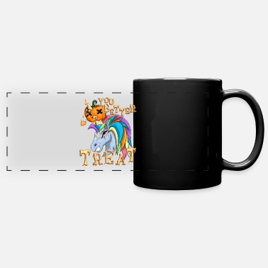 Unicorn Pumpkin T-Shirt Halloween - Full Color Panoramic Mug