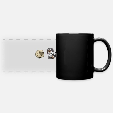 Australian Sheep Dog Australian Shepherd Sheep - Full Color Panoramic Mug