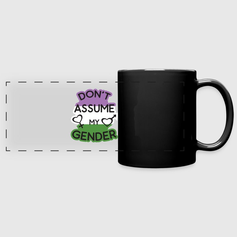 Dont Assume My Gender Flag Gengenderqueer - Full Color Panoramic Mug