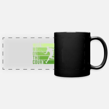 Court Tennis Court Design for a Tennis Player - Full Color Panoramic Mug