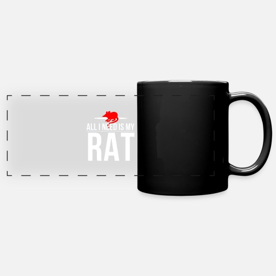 Rat Mugs & Drinkware - rat pet animal rats rat lover rat T-shirt - Full Color Panoramic Mug black