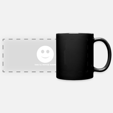 SMILEY SCARY EVIL FUNNY FUNNY HUMOR IRONY (w) - Full Color Panoramic Mug