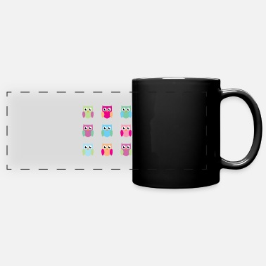 9 owls - Full Color Panoramic Mug