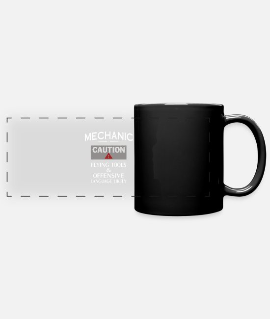 Building Mugs & Cups - MECHANIC Safety - Full Color Panoramic Mug black