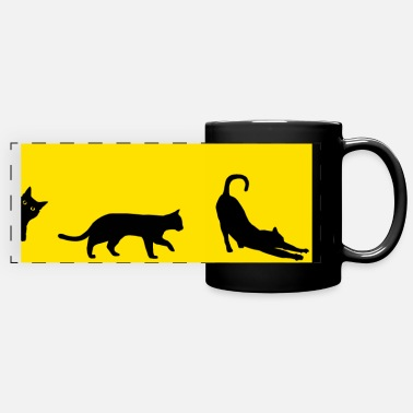 Black Cat - Full Color Panoramic Mug