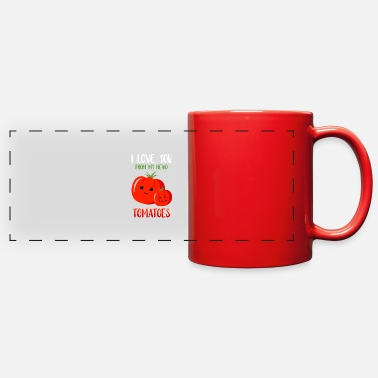 Tomatoe Pun Cute love Tomato pun - Full Color Panoramic Mug