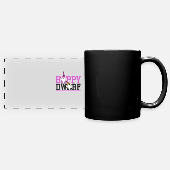 Dwarf Mugs & Drinkware - Happy dwarf - Cool Dwarf Gift idea - Full Color Panoramic Mug black