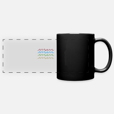 Waves colorful - Full Color Panoramic Mug