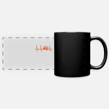 Photography Photography Vintage Retro Camera Heartbeat - Full Color Panoramic Mug