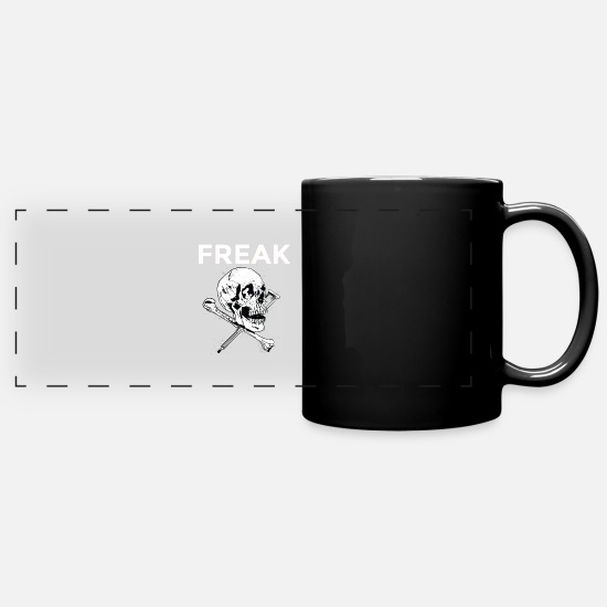 Birthday Mugs & Drinkware - Freak - Full Color Panoramic Mug black