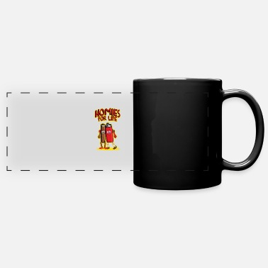 Stoner Homies For Life Joint and Lighter Weed Stoner Joke - Full Color Panoramic Mug