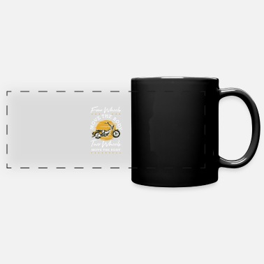 Dirt Bike Girl Four Wheels Move The Body Two Wheels Move The - Full Color Panoramic Mug