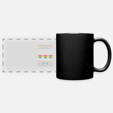 Love Being Gay Single and ready to jingle - lgbt christmas - Full Color Panoramic Mug